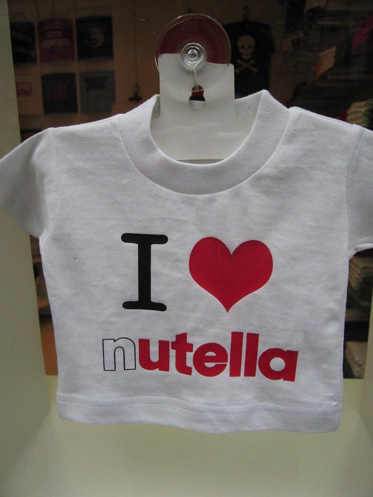 I Love Nutella T-Shirt At Souvenir Shop - Paris, France   Flickr