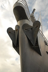 Anchor close-up of the 'Dwinger' aluminium superyacht