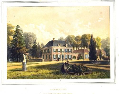 A. Wijnantz, kleurenlitho van huis Angerenstein, ca. 1850