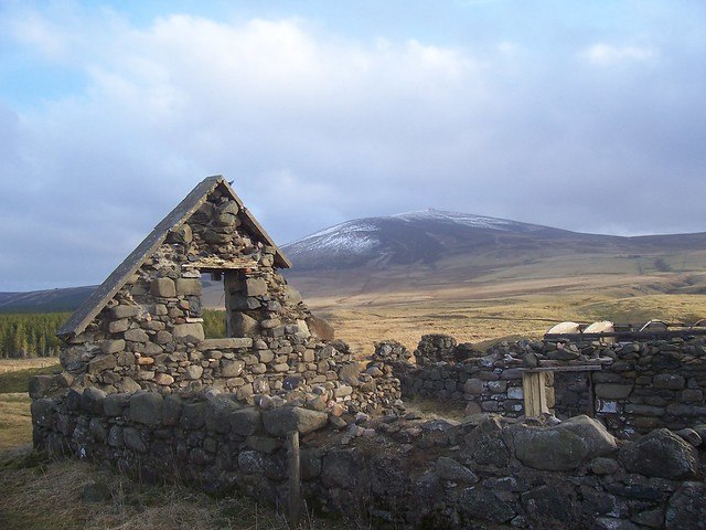 Deserted house, The Buck(935ft) from Cabrach, Aberdeenshire, 31st January 2009