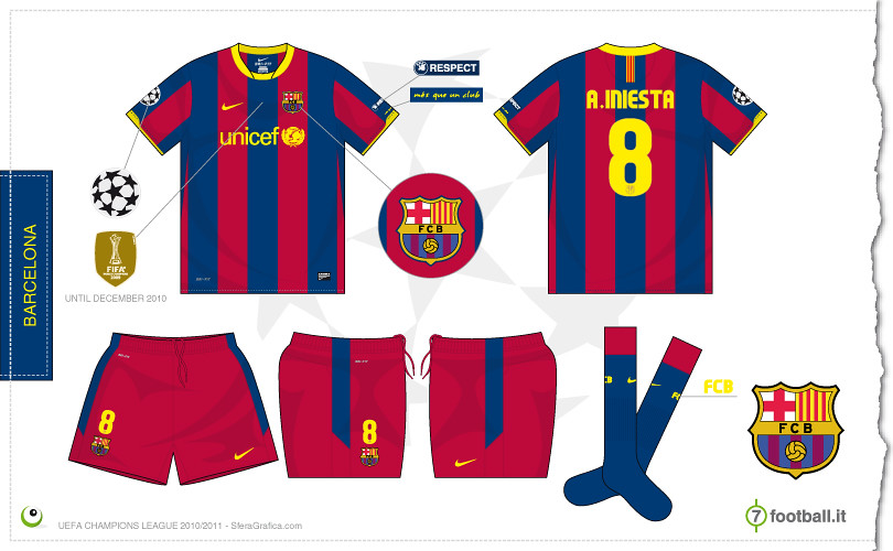 huge selection of dc6ac 9bcf0 Barcelona Champions League home kit 2010/2011 | Sergio Scala ...