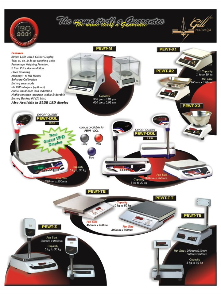 gill ALL models TT 157 KB   Poonawala Electro Weigh has