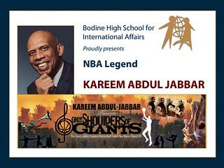 Basketball Legend Kareem Abdul-Jabbar at Bodine High School, February 15, 2011 | by World Affairs Council of Philadelphia