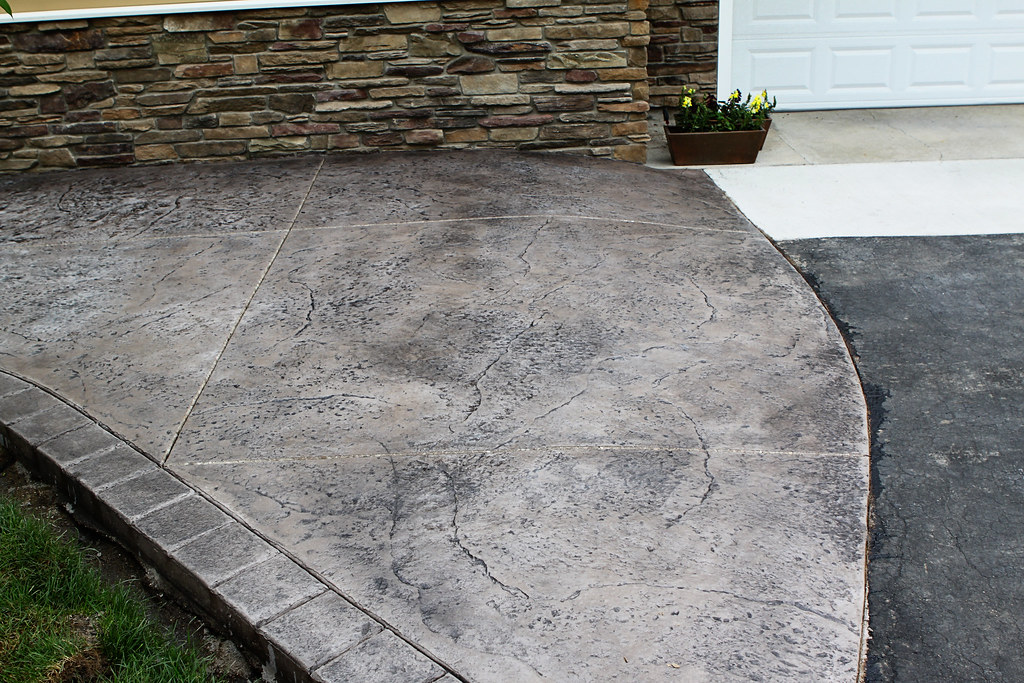 Seamless Stamped Concrete Patio With Hand Tooled Border An Flickr