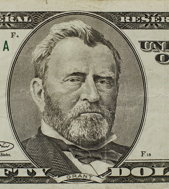 Ulysses S. Grant on a US 50 dollar bill (2013)