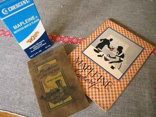Mapleine and cookbooks   by litlnemo