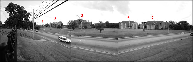 Mississippi Industrial College seen from the campus of Rust College (click photo > Actions > View All Sizes > Original for a closer look at the buildings)
