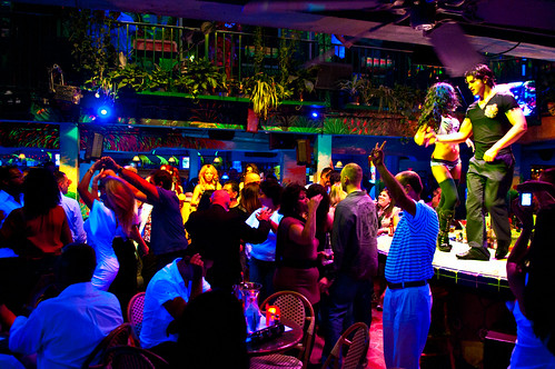 Partying at Mango's Tropical Cafe, South Beach Miami