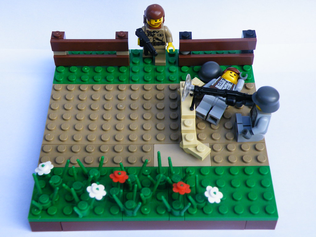 LEGO WW2 diorama (Normandy) | Normandy hedgerow, Outside of