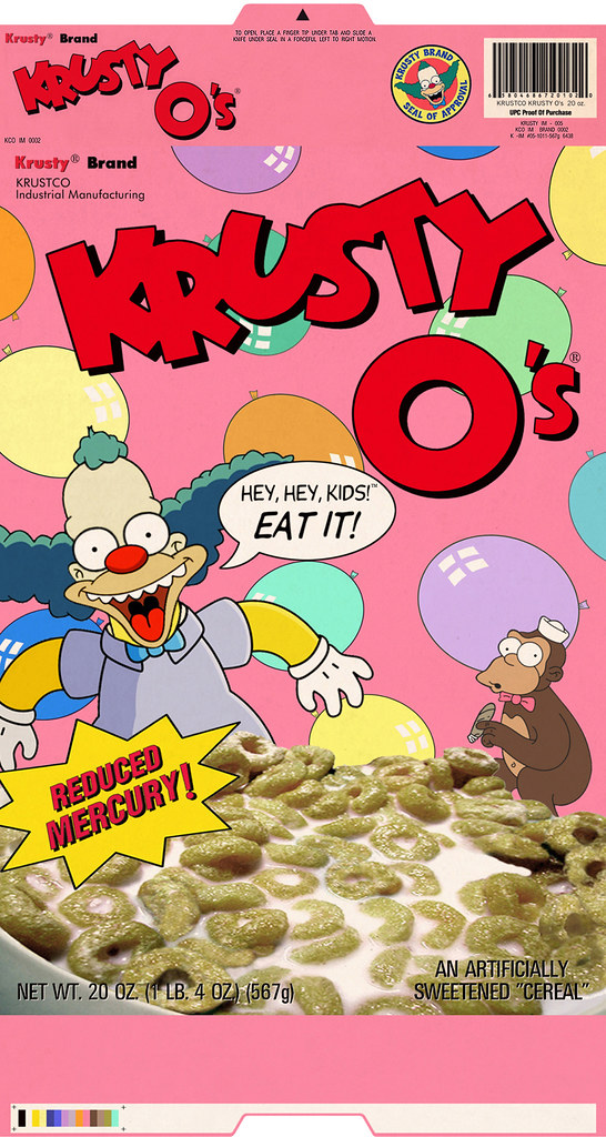 Krusty-O's Cereal Box Front