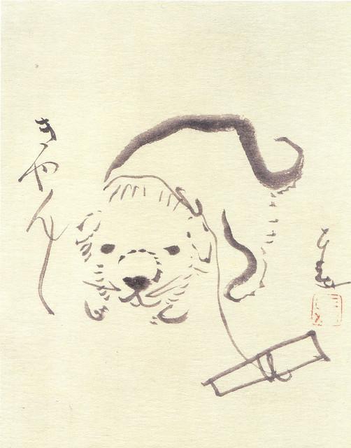 仙厓「狗子画賛」(1837)