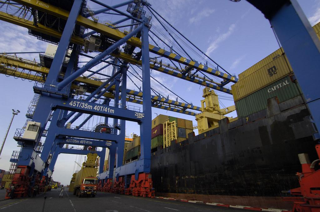 The port at Tema