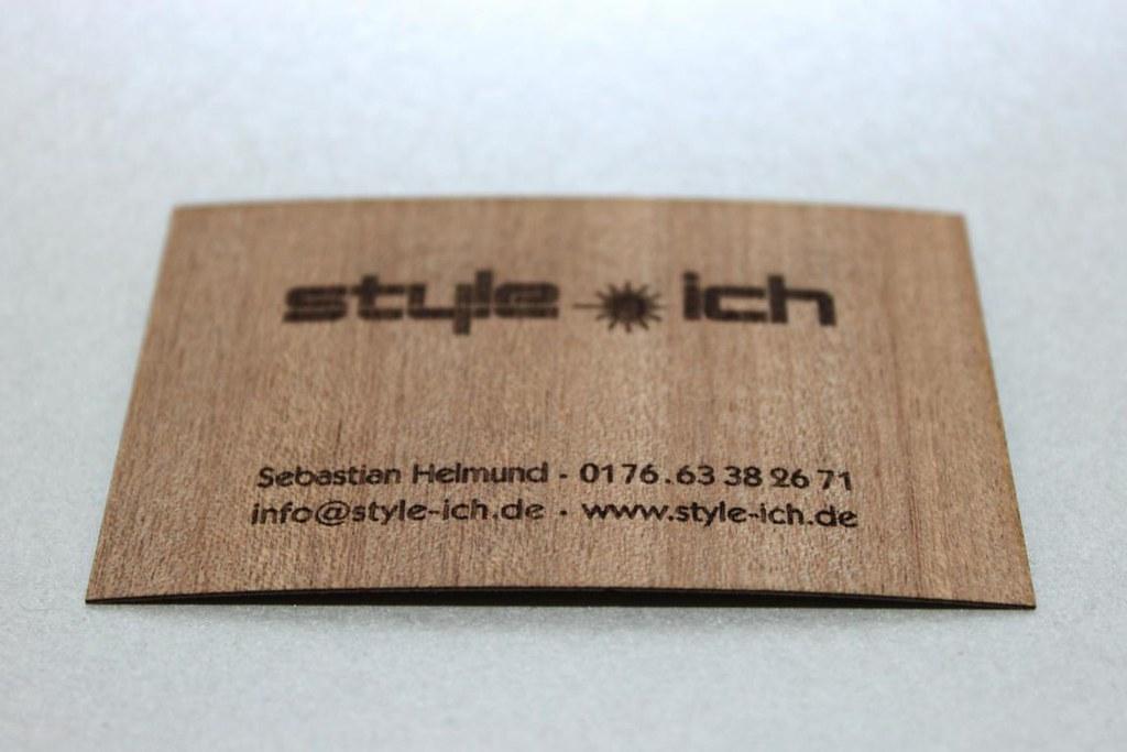 Gravur Lasergravur Holz Visitenkarte 2 Style Ich Style Ich