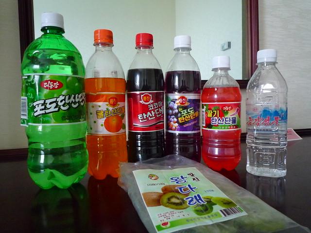 DPRK, North Korean soft drink selection
