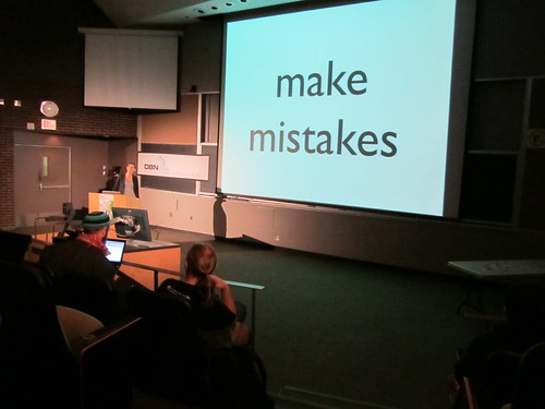 make mistakes   by m.gifford