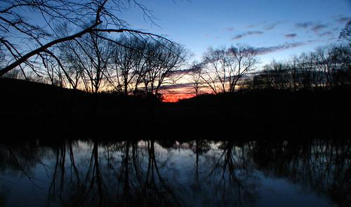 trees sunset silhouette creek pennsylvania sunsets creeks