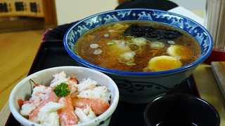 Ramen and Crab Meat on Rice | by liquidx