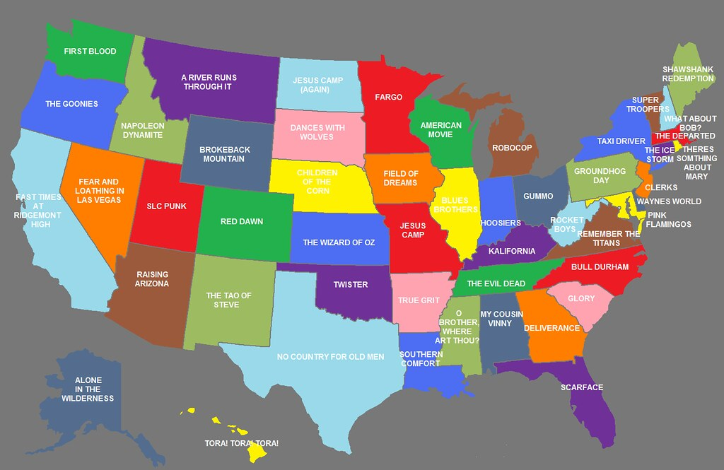 The United States Of America(n Movies) {INFOGRAPHIC MAP} B ...