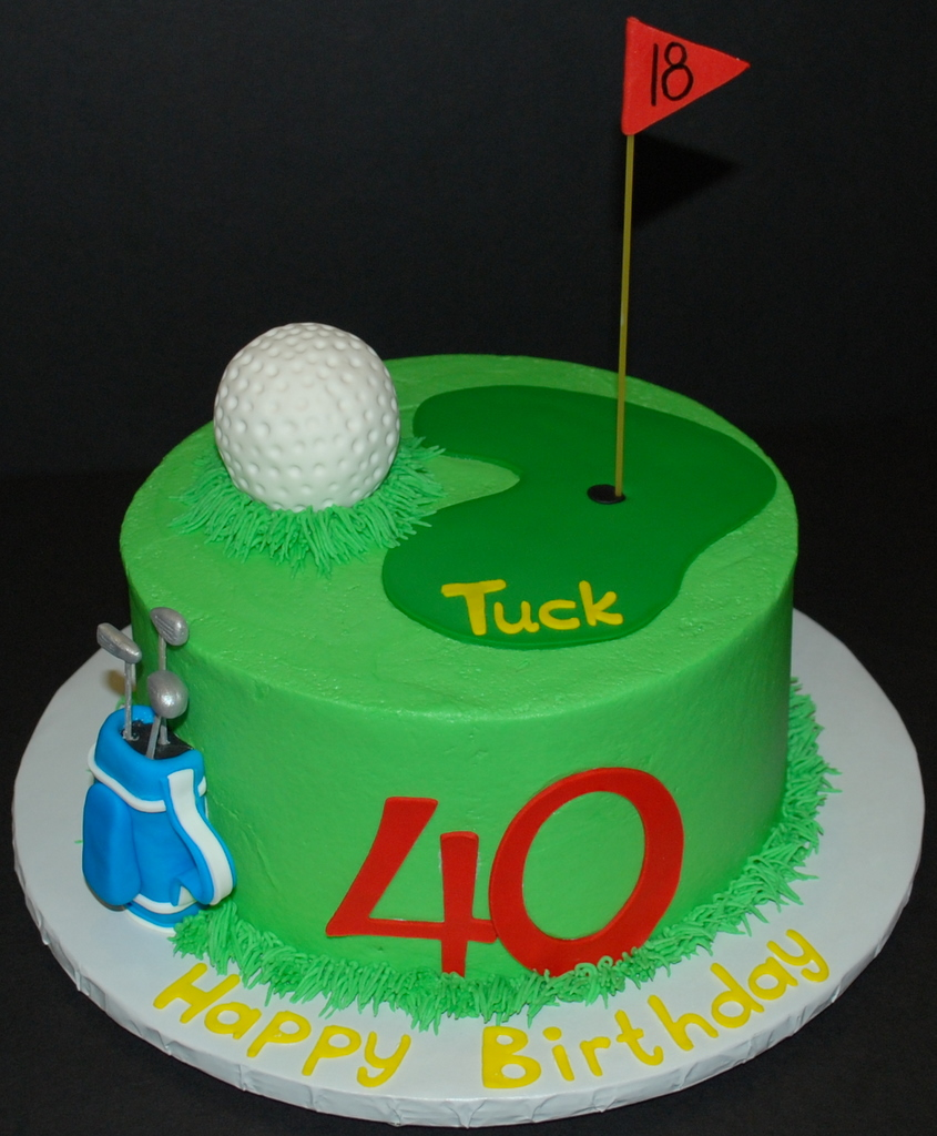Admirable Golf Birthday Cake A Photo On Flickriver Birthday Cards Printable Trancafe Filternl