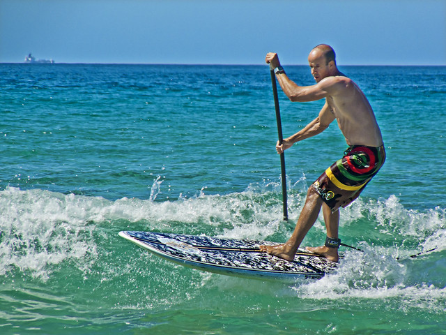 Stand-up Paddle surfing (Surf a remo)