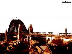 Harbour Bridge in orange