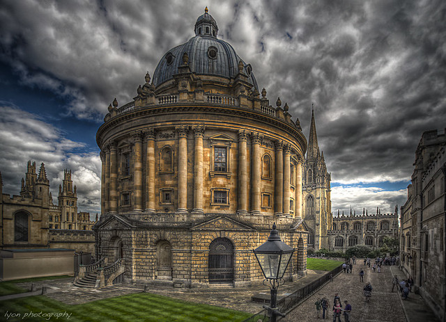 Radcliffe Camera from Exeter College Gardens - Oxford, England