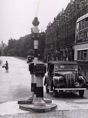 Vintage street furniture at Golders Green, London, c1943 | by mikeyashworth