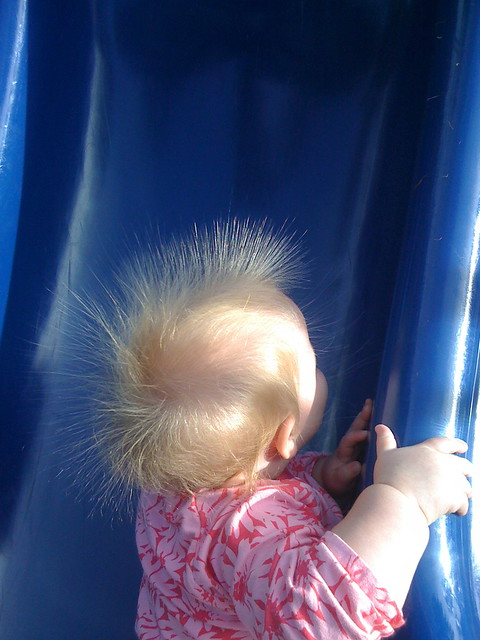 Slides & Static Electricity are fun