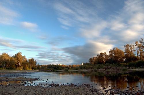 sky reflection clouds river washington nuclear hdr coolingtowers satsop satsopriver satsopnuclearpowerplant