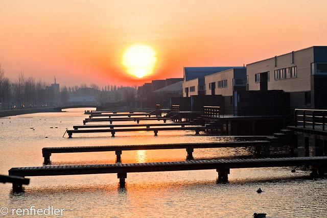 Sunset in Ypenburg, The Hague