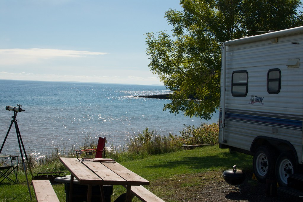 Campsite at Burlington Bay in Two Harbors, MN | Campsite #45