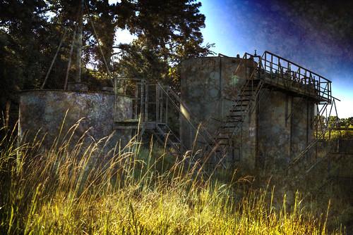 texture toxic grass sunrise industrial hdr highdynamicrange goldenhour tanks adandoned processingplant