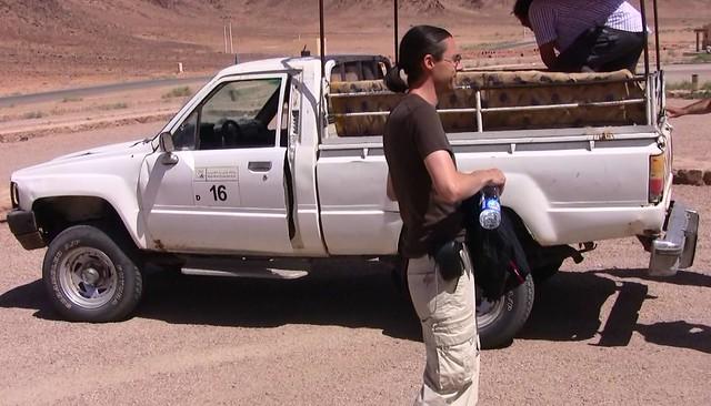 JORDANIEN - Wadi Rum , Mc vor unserem Pick-up