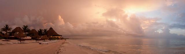 Playa del Carmen sunrise (panorama)