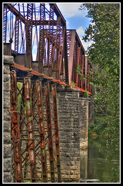 Railroad Bridge over the Caney Fork River