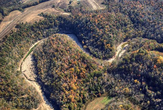 Meanders, Flood damage, Blackburn Fork Creek, Jackson Co, TN