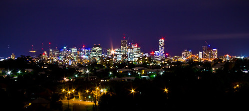 skyline night australia brisbane