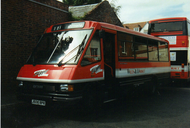 2506, J506 RPR, Optare Metrorider, 1992 (Wilts & Dorset) (t.1993)