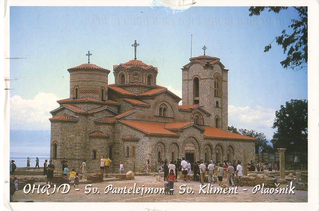 UNESCO St. Panteleimon Monastery Postcard