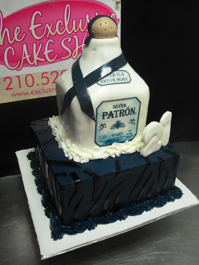 Sensational Patron Bottle Birthday Cake Exclusive Cake Shop Flickr Personalised Birthday Cards Veneteletsinfo