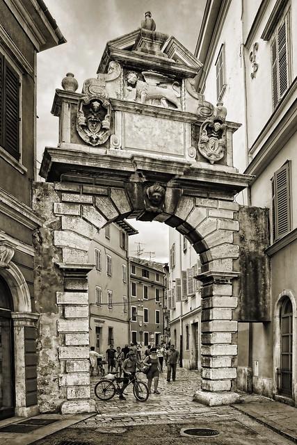 Croatia - Istria - Rovinj - City Gate sepia