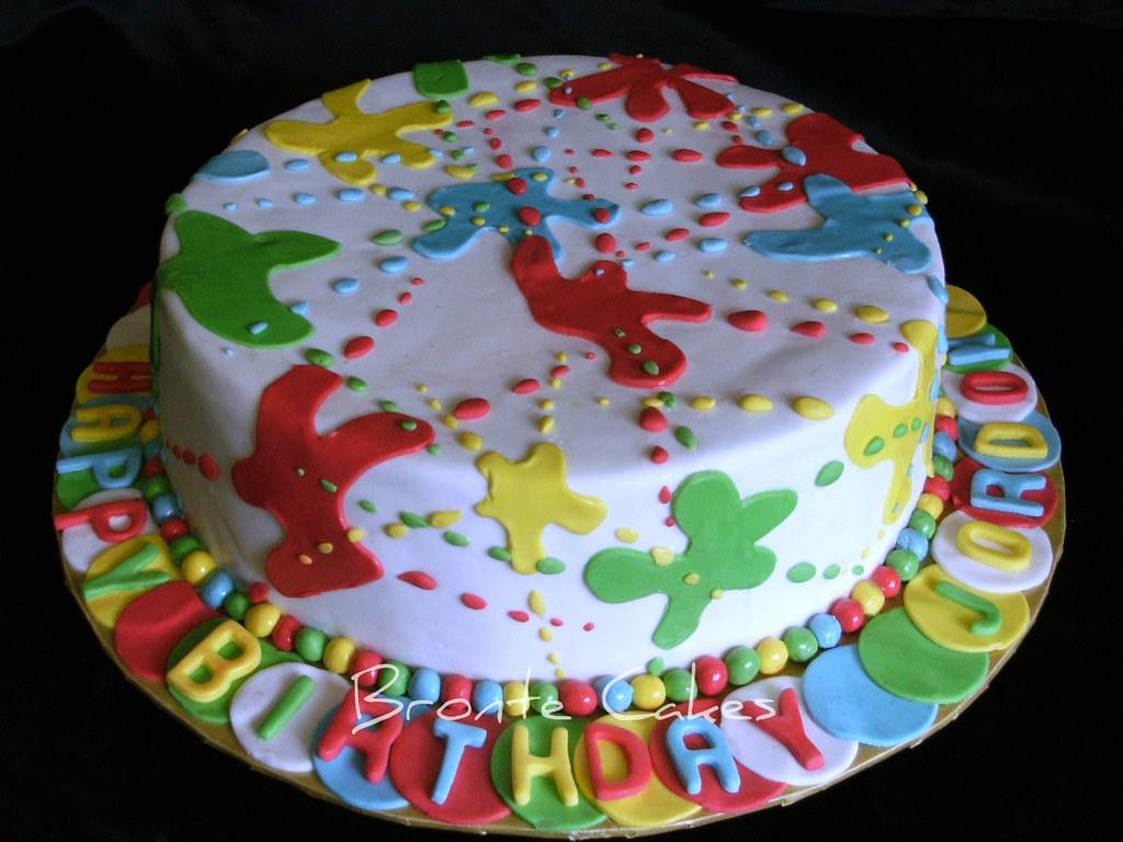 Prime Paintball Birthday Cake Cherry Ripe Mud Paintball Cake M Flickr Birthday Cards Printable Giouspongecafe Filternl
