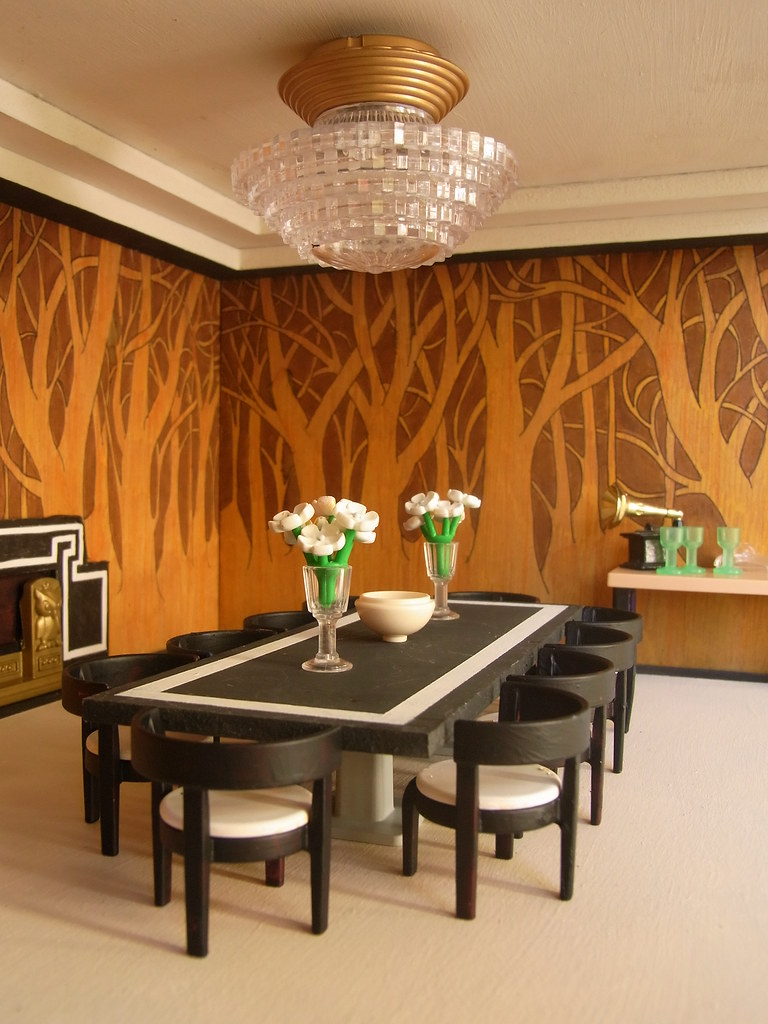 Art Deco dining room | Why is it only AFTER I\'ve taken the p ...