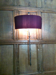 Wall light at Bibury Court Hotel   by Tip Tours