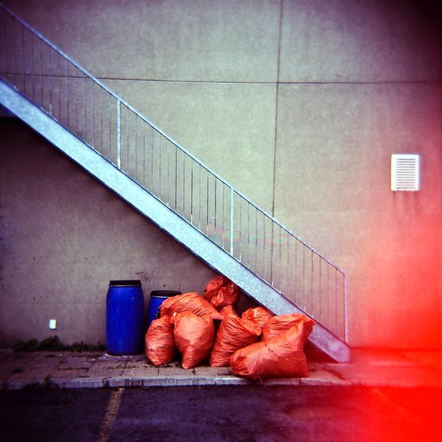 Holga & les poubelles