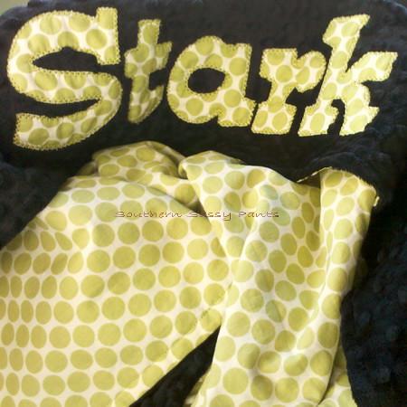 Applique Minky Blanket