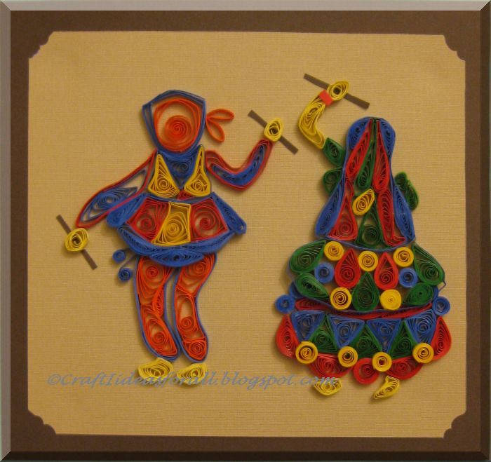 Paper Quilled Garba Dancers From India Traditional Indian Flickr