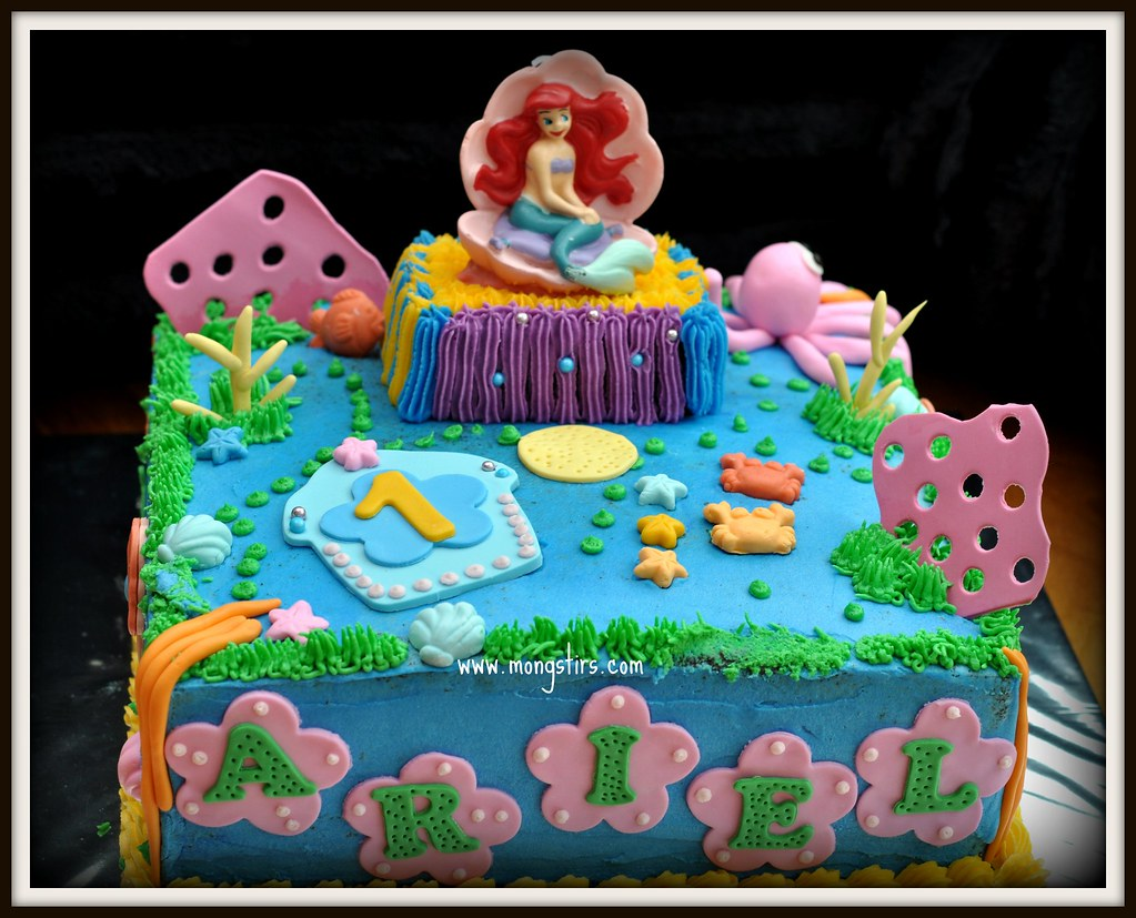 Awesome Ariel Birthday Cake An Ariel Cake For Ariel This Is A Hug Flickr Birthday Cards Printable Nowaargucafe Filternl
