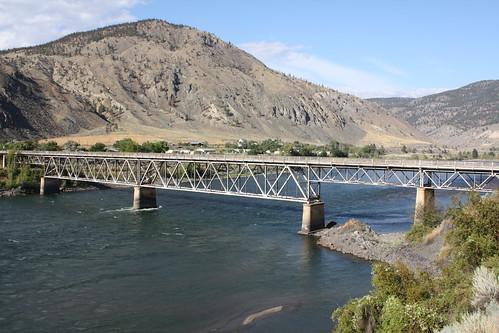 canada britishcolumbia rattlesnakebridge thompsonriver historicbridge spencesbridge trussbridge canadianbridge decktruss warrendecktruss warentruss oldspencesbridge