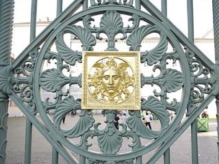 Golden decoration on gate (Turin)
